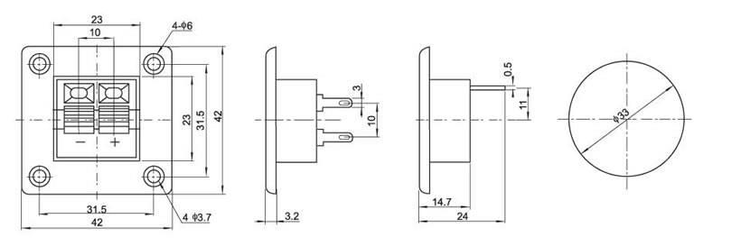 wp外接线插座系列av同芯插座手电筒开关船型开关直键